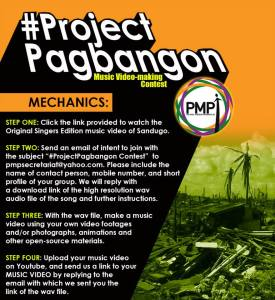 Project Pagbangon music video making by PMPI