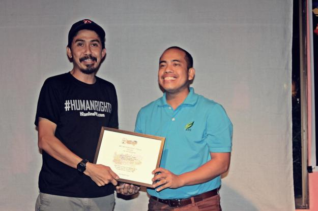 Edel Garingan winner of 4th HR Pinduteros Choice Awards for HR Blogsite. Photo by Take back The Tech
